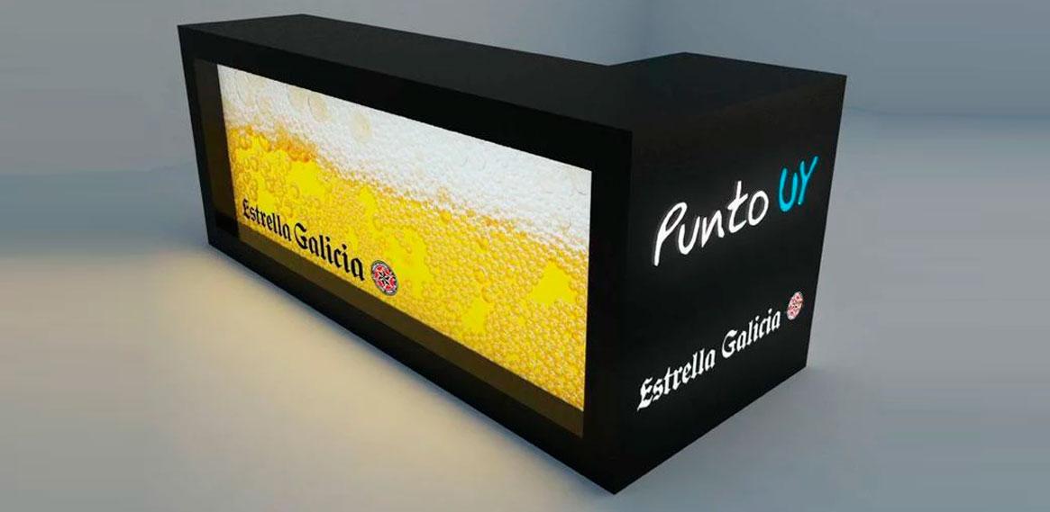 Stand para Estrella Galicia iluminado
